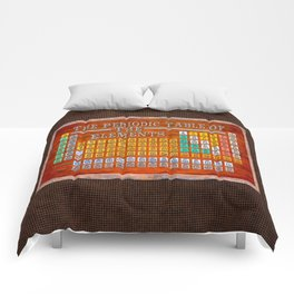 Vintage Industrial Periodic Table Of The Elements Comforters