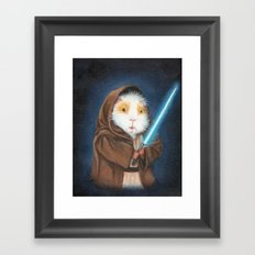 Jedi Guinea Pig Framed Art Print