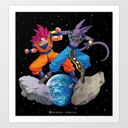 Battle of the Gods Art Print