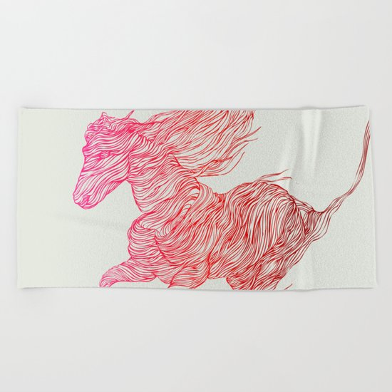 Horse Beach Towel