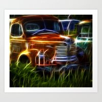 truck Art Prints featuring Truck by Phil Flaig