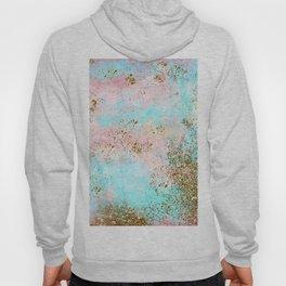 Pink and Gold Mermaid Sea Foam Glitter Hoody