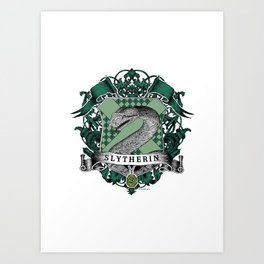 Slytherin Color Crest Art Print