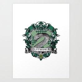 Slytherin Color Crest Art Print