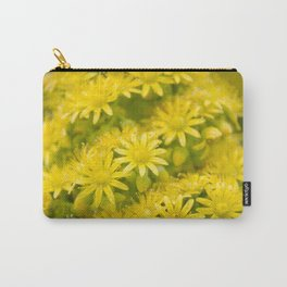 Dreamy Spiral Yellow Flowers Carry-All Pouch