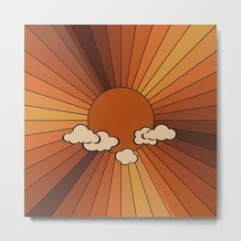 Retro Sunshine Metal Print
