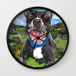 Sparky For Chicago Canine Rescue Wall Clock