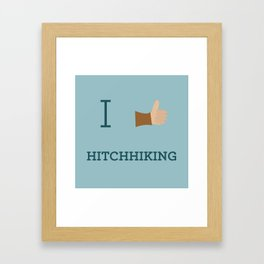 I heart Hitchhiking Framed Art Print