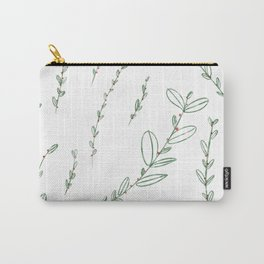 Mistletoe Winter Berry Carry-All Pouch