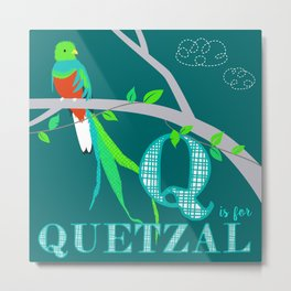 Q is for Quetzal Metal Print
