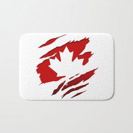 Canadian Red Flag Pride Bath Mat