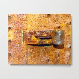 Industrial Lock Metal Print