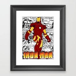 Iron Man Comic Framed Art Print