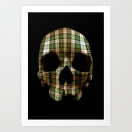 Tartan though and through Art Print