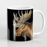 moose Mugs featuring Moose by Tim Jeffs Art