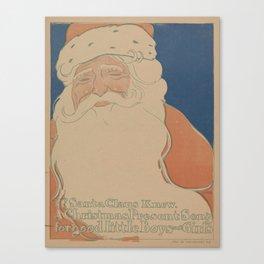 Vintage Santa Claus Illustration (1901) Canvas Print