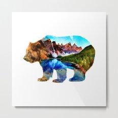 Wander Bear Metal Print