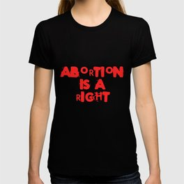 Abortion Is A Right Feminist Pro Choice Protest Legislation Tshirt T-shirt
