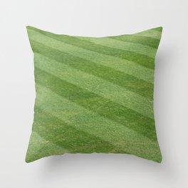 Play Ball! - Freshly Cut Grass Throw Pillow