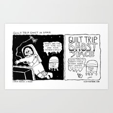 Guilt Trip Ghost in Space Art Print