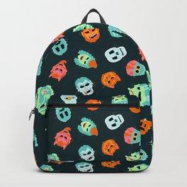 Halloween Mask Pattern Backpack