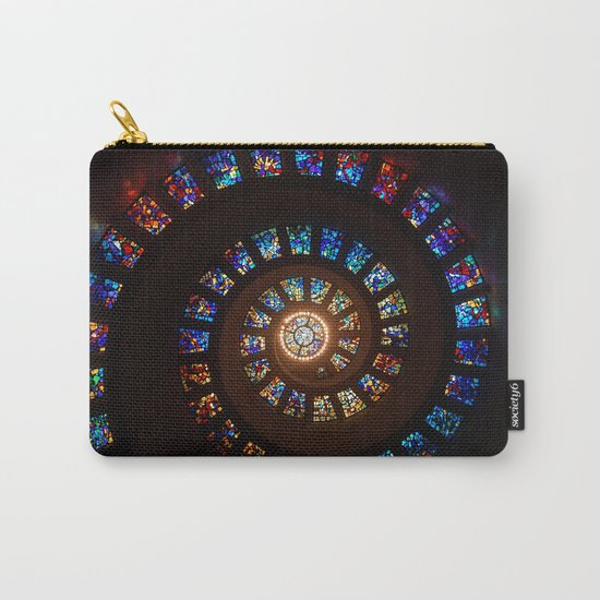 Stained Glass Swirl Carry-All Pouch