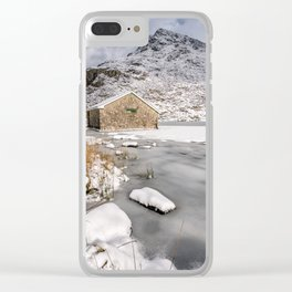 Frozen Lake Snowdonia Clear iPhone Case