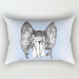 She Weeps Rectangular Pillow