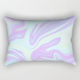 Unicorn Goo Liquid Holographic Texture Rectangular Pillow