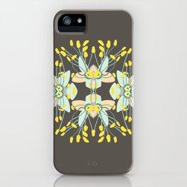 2941-Phebalium-Abstract-Brown iPhone Case