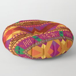 Native American Warm Pattern Design Floor Pillow