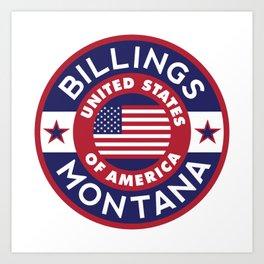 Billings, Montana Art Print