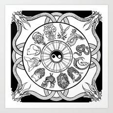 chinese zodiac Art Print