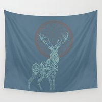 stag Wall Tapestries featuring Stag by Stranger Designs