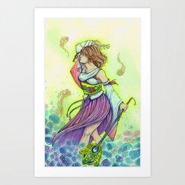 Yuna, The Sending (Final Fantasy X) Art Print