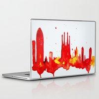 barcelona Laptop & iPad Skins featuring Barcelona by Talula Christian