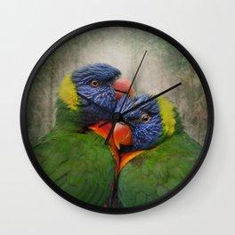 Rainbow lovers Wall Clock