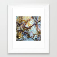 brown Framed Art Prints featuring Marble by Patterns and Textures