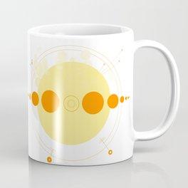 Sun and Planets Orbit Coffee Mug