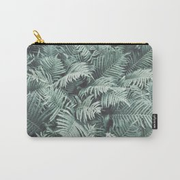 Fern Patten Turquoise Texture Carry-All Pouch