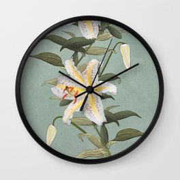 Golden Rayed Lily Wall Clock