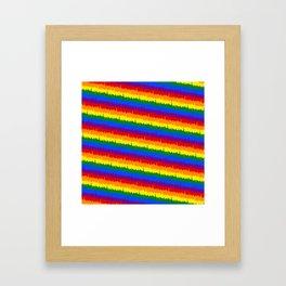 Mini Manhattan Skyline Pride Candy Stripe Framed Art Print