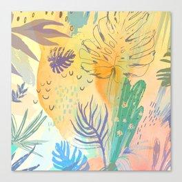 Desert Sun Pattern Canvas Print