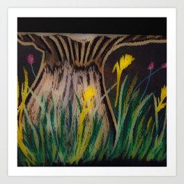 Chalkboard Blooms Art Print