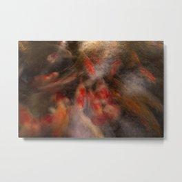 Koi Impressionist Abstract Metal Print