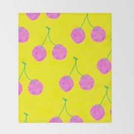 Words from Cherry - fruit love illustration wedding gift Throw Blanket