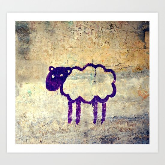 Just a Sheep Art Print