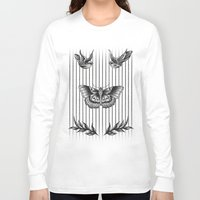 tattoos Long Sleeve T-shirts featuring Harry's tattoos by Cécile Pellerin