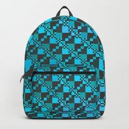 Micro Diagonal Blue Checkerboard Backpack