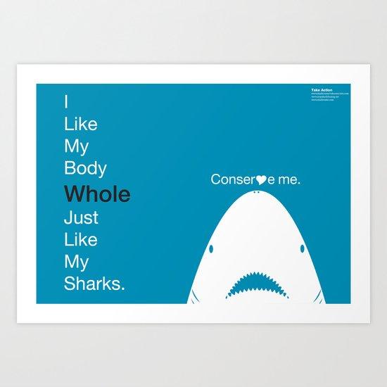 Shark Love Art Print